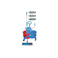 CLEAN ZONE Trolley,buckets,mop & 3 pads (SKU: 9KCZS)