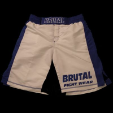 Brutal Fight Shorts Wht/blu or Wht/red (SKU: BRUTALFSHORTS)