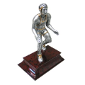 "STATUE: SILVER AND GOLD WRESTLER 6"" x 4"""
