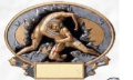 "Statue: Wrestling Plaque 7"" X 6"" (SKU: SP56)"