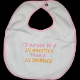 BIB: I'D RATHER BE A LIL WRESTLER wh/pnk (SKU: KXB2)